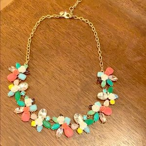 J. Crew Multi-Colored Floral Statement Necklace